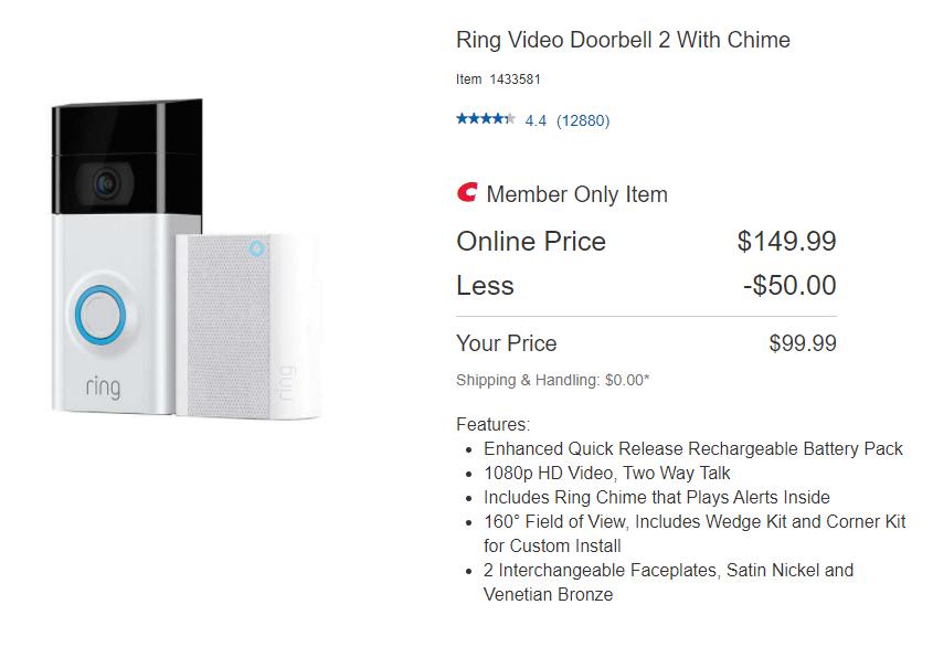 Ring Video Doorbell 2 With Chime B4f1c9993b64f122db3bd6b183e97eb2