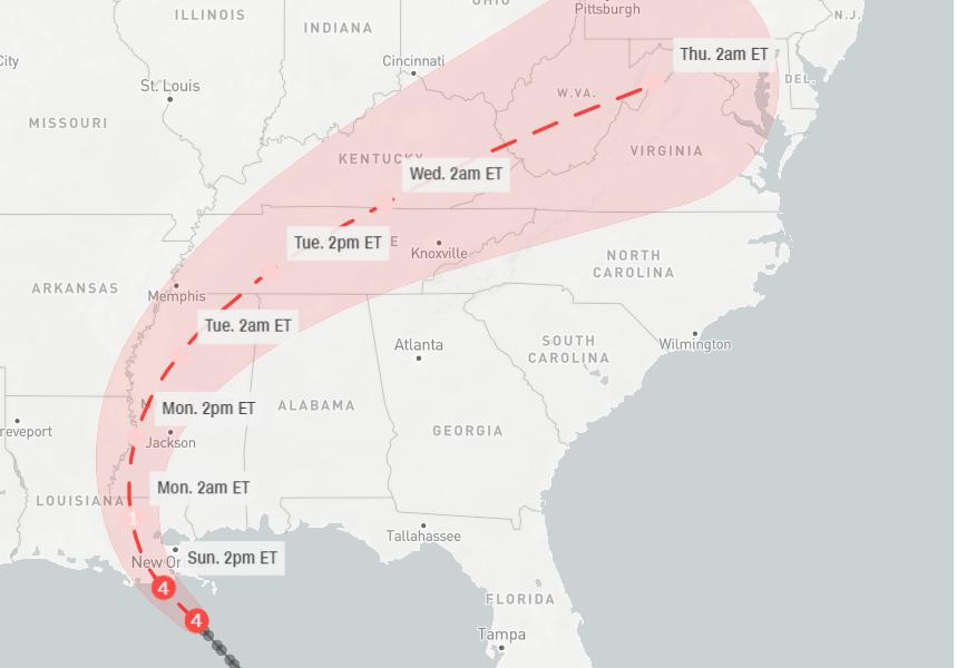 Hurricane Ida strengthens into Category 4 storm as it nears Gulf Coast F15d41c259b24f4d8b6991f19c7810f2